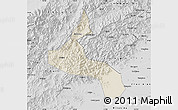 Shaded Relief Map of Laishui, desaturated