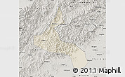 Shaded Relief Map of Laishui, semi-desaturated