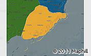 Political Map of Leting, darken