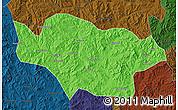 Political Map of Longhua, darken