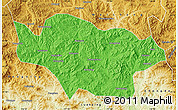 Political Map of Longhua, physical outside