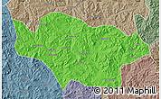 Political Map of Longhua, semi-desaturated