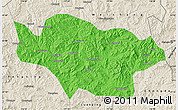 Political Map of Longhua, shaded relief outside
