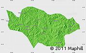 Political Map of Longhua, single color outside