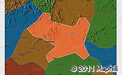 Political Map of Luan Xian, darken