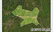 Satellite Map of Luan Xian, darken