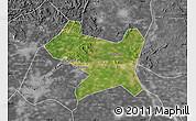 Satellite Map of Luan Xian, desaturated