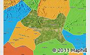 Satellite Map of Luan Xian, political outside