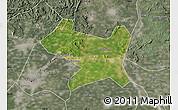 Satellite Map of Luan Xian, semi-desaturated