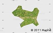 Satellite Map of Luan Xian, single color outside