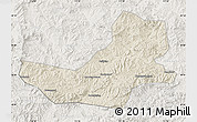 Shaded Relief Map of Luanping, lighten