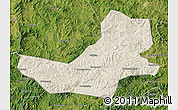 Shaded Relief Map of Luanping, satellite outside
