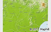 Physical Map of Lulong Xian