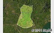 Satellite Map of Lulong Xian, darken