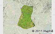 Satellite Map of Lulong Xian, lighten