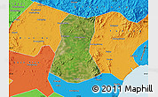 Satellite Map of Lulong Xian, political outside