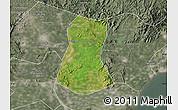 Satellite Map of Lulong Xian, semi-desaturated