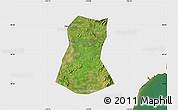 Satellite Map of Lulong Xian, single color outside