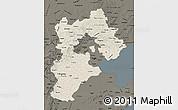 Shaded Relief Map of Hebei, darken