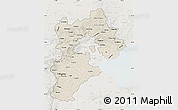 Shaded Relief Map of Hebei, lighten