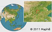 Satellite Location Map of Nanhe