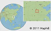 Savanna Style Location Map of Nanhe