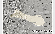 Shaded Relief Map of Neiqiu, darken, semi-desaturated