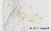 Shaded Relief Map of Neiqiu, lighten, semi-desaturated