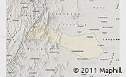 Shaded Relief Map of Neiqiu, semi-desaturated