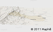 Shaded Relief Panoramic Map of Neiqiu, lighten