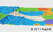 Shaded Relief Panoramic Map of Neiqiu, political outside