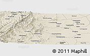 Shaded Relief Panoramic Map of Neiqiu
