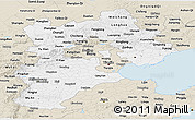 Classic Style Panoramic Map of Hebei