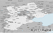 Gray Panoramic Map of Hebei