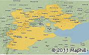 Savanna Style Panoramic Map of Hebei