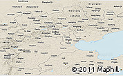 Shaded Relief Panoramic Map of Hebei