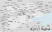 Silver Style Panoramic Map of Hebei