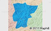 Political Map of Pingquan, lighten