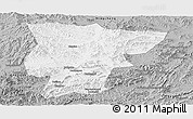 Gray Panoramic Map of Pingquan