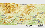Physical Panoramic Map of Pingquan