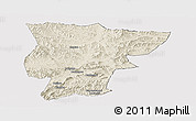 Shaded Relief Panoramic Map of Pingquan, cropped outside