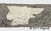 Shaded Relief Panoramic Map of Pingquan, darken