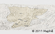 Shaded Relief Panoramic Map of Pingquan, lighten