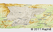 Shaded Relief Panoramic Map of Pingquan, physical outside
