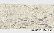 Shaded Relief Panoramic Map of Pingquan
