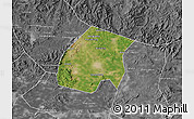 Satellite Map of Qian An, desaturated