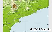 Physical Map of Qinhuangdao Shi