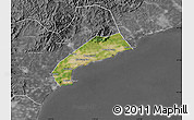 Satellite Map of Qinhuangdao Shi, desaturated