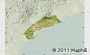 Satellite Map of Qinhuangdao Shi, lighten
