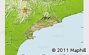 Satellite Map of Qinhuangdao Shi, physical outside
